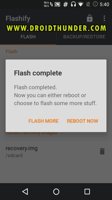 Install TWRP Recovery without PC on Android phone using Flashify app screenshot 15