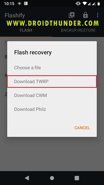 Install TWRP Recovery without PC on Android phone using Flashify app screenshot 17