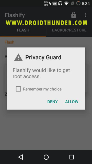 Install TWRP Recovery without PC on Android phone using Flashify app screenshot 2