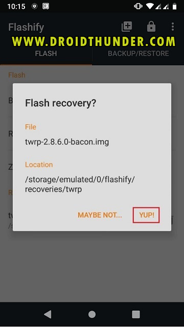 Install TWRP Recovery without PC on Android phone using Flashify app screenshot 20
