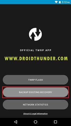 Install TWRP without PC using Official TWRP app