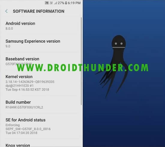 Samsung Galaxy J5 Prime Android 8.0.0 Oreo Firmware Update