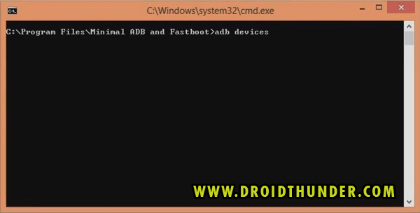 Unlock Bootloader of any Android phone CMD window ADB devices code screenshot 3