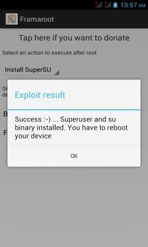 Root Vivo Y91 using Framaroot screenshot 4