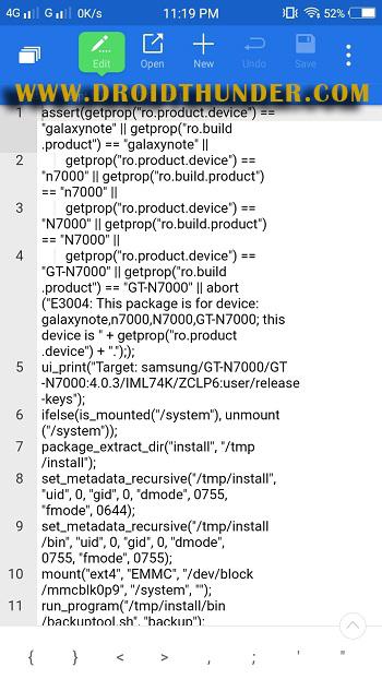 How to fix status 7 error TWRP ZArchiver app rom updater script edit screenshot 17