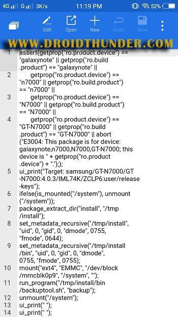 How to fix status 7 error TWRP ZArchiver app rom updater script screenshot 16