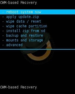 Install Android 8.0 Oreo on Galaxy Core 2 CWM Reboot
