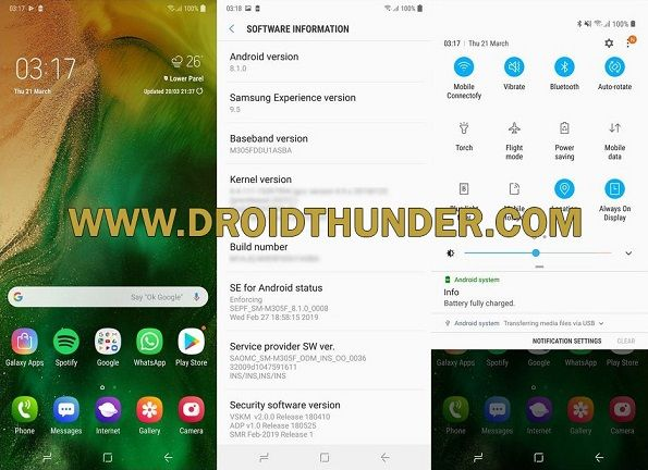 Samsung Galaxy M30 Android 8.1.0 Oreo Update