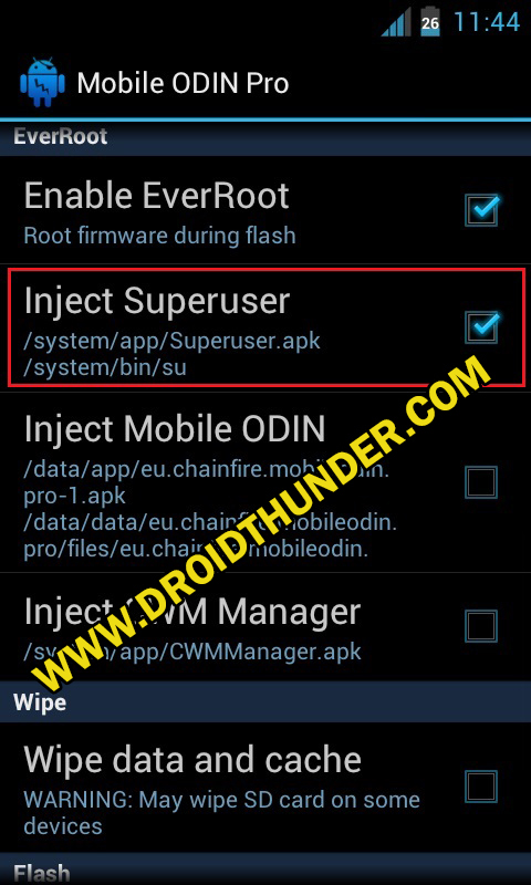Install Samsung Firmware without PC Mobile Odin Pro app screenshot 11