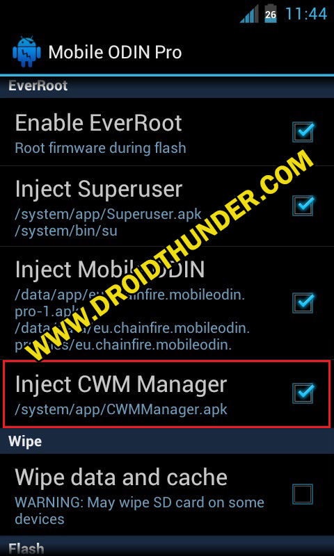 Install Samsung Firmware without PC Mobile Odin Pro app screenshot 13