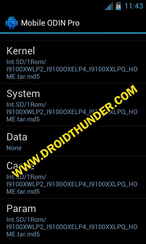 Install Samsung Firmware without PC Mobile Odin Pro app screenshot 7