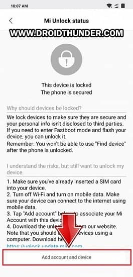 Poco F1 Enable Mi Unlock Status Add Account