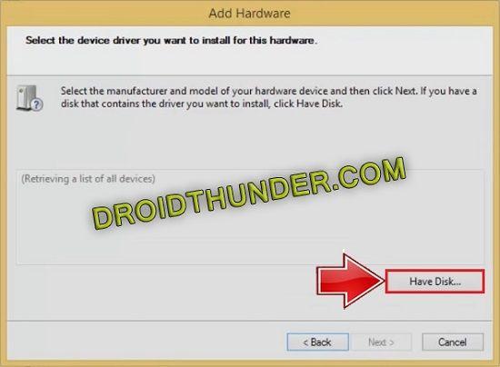 Add hardware wizard disk