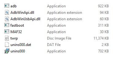 Install TWRP Recovery on Galaxy M10 using ADB fastboot files screenshot 1