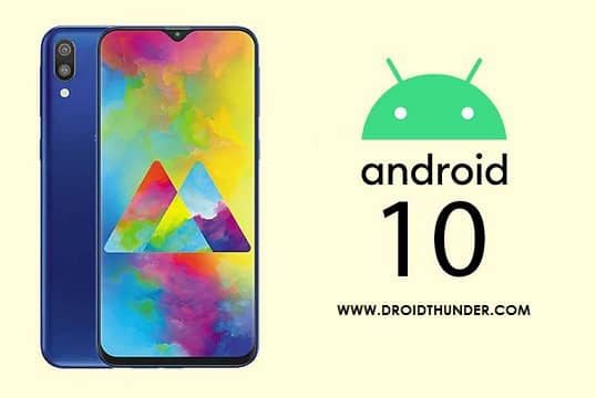 Samsung Galaxy M20 Android 10 One UI 2.0 firmware