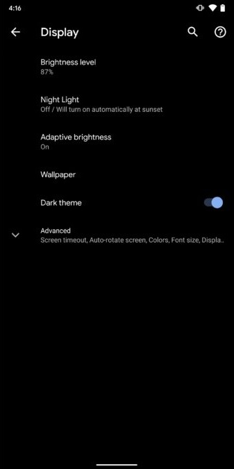 Enable Dark theme Android 10 method 1 screenshot 3