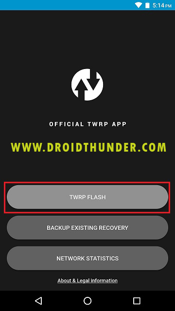 Install TWRP recovery on Galaxy M31 using Official TWRP app screenshot 1