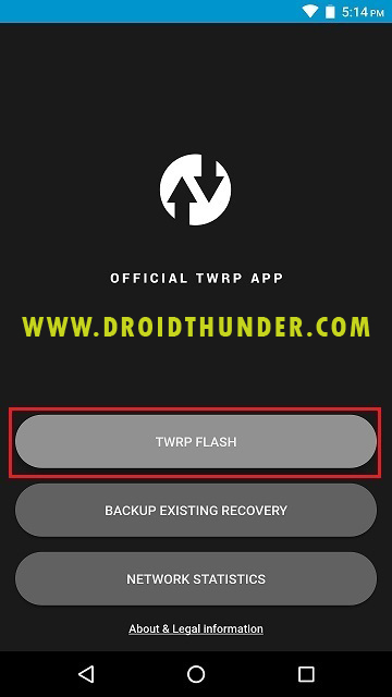 Install TWRP recovery on Galaxy M31 using Official TWRP app screenshot 4