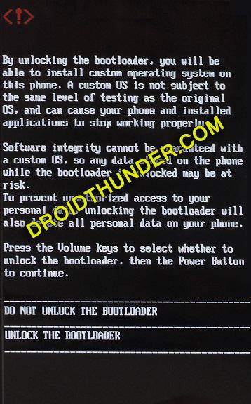 Unlock Bootloader of Realme X50 Pro bootloader unlock message screenshot 14