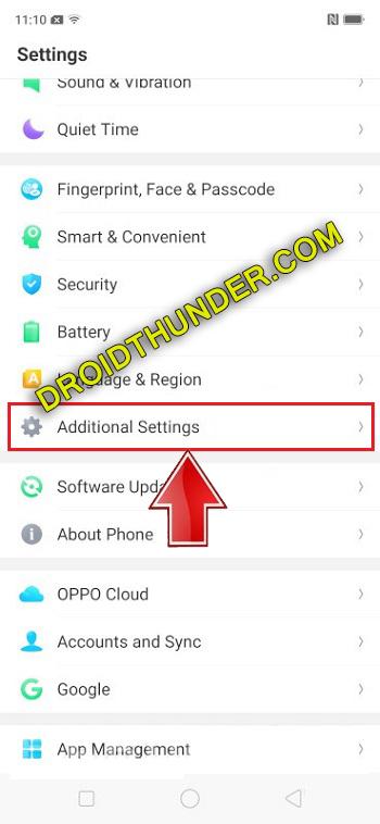 Unlock Bootloader of Realme X50 Pro enable USB debugging additional settings screenshot