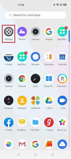 Unlock Bootloader of Realme X50 Pro enable USB debugging settings screenshot