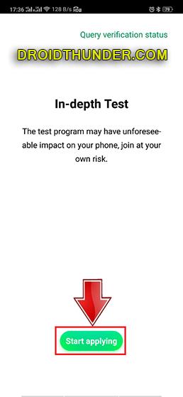 Unlock Bootloader of Realme X50 Pro in depth test app screenshot 1