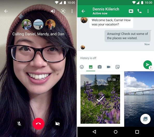 Google Hangouts for Android phone