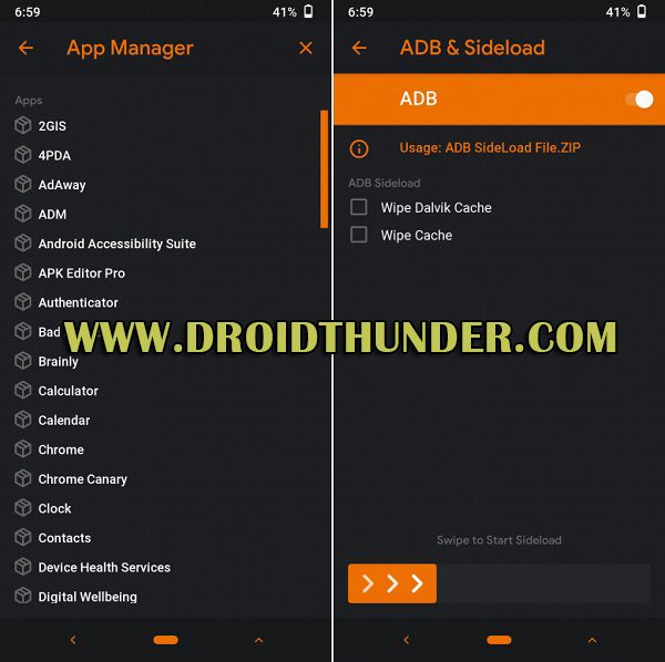 Orange Fox Recovery App Manager
