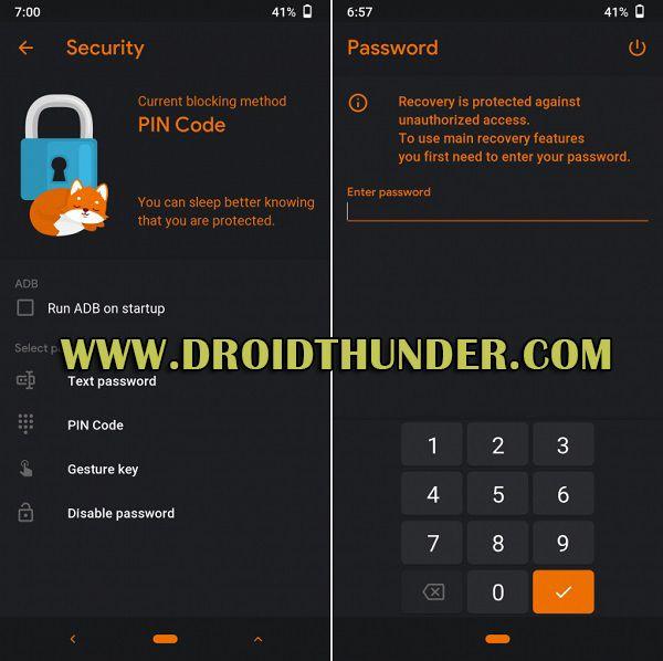 Orange Fox Recovery Password Lock