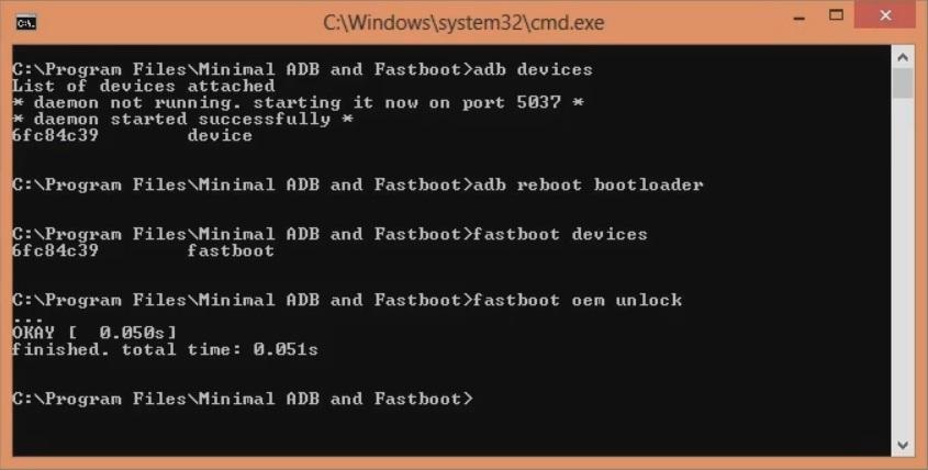 Unlock Bootloader of OnePlus 8 cmd window fastboot oem unlock screenshot 11