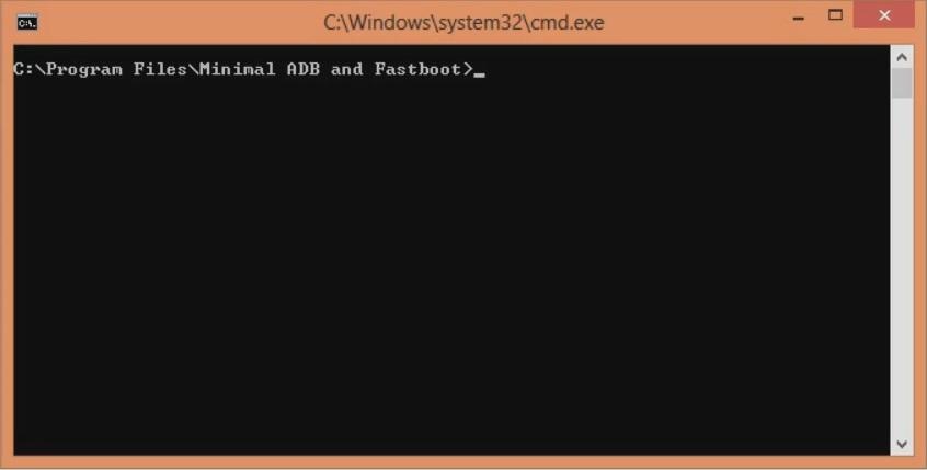 Unlock Bootloader of OnePlus 8 open cmd window screenshot 1