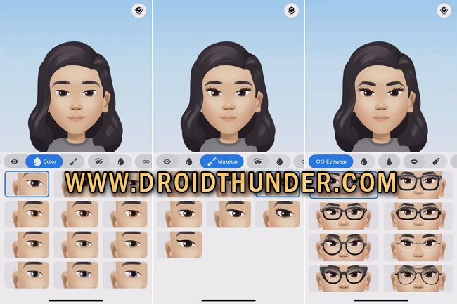 Emoji Sticker Eye Shape Color Glasses