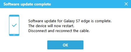 Samsung Software update completes