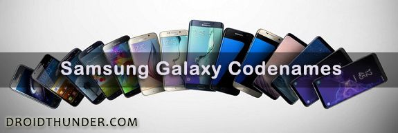 Samsung Galaxy Codenames