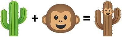 Combine Cactus Monkey Emojis