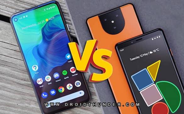 Google Pixel 5 vs Pixel 4A