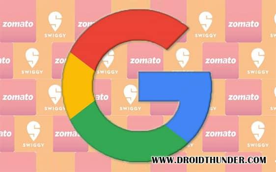 Google sends Policy Violation notice to Swiggy and Zomato