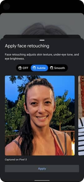 Google turn off Face Retouching Beauty Filter that Affect Mental Health