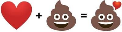 Heart Poop Emoji
