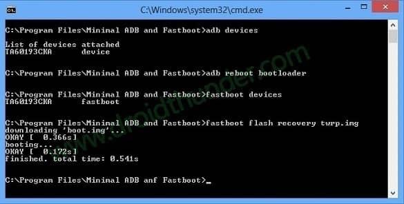 Xiaomi Poco X3 fastboot flash twrp.img