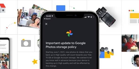 Google Photos Free Unlimited Storage to End from June 2021