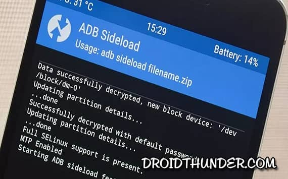 Install Custom ROM with ADB sideload