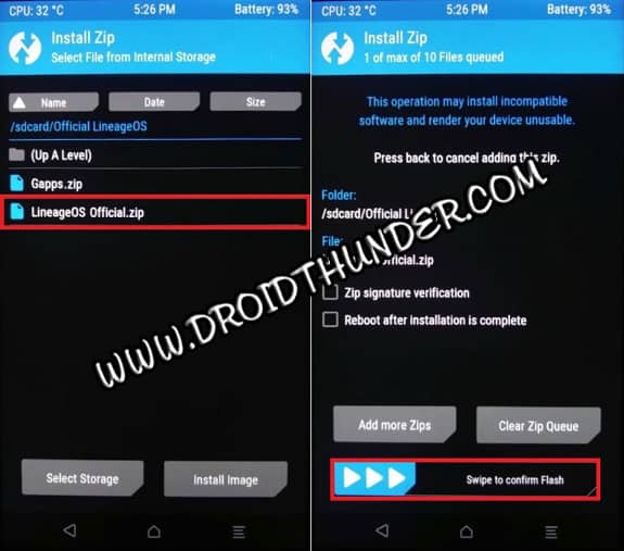 Install custom ROM using TWRP recovery