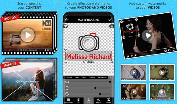 Add Watermark on Videos & Photos