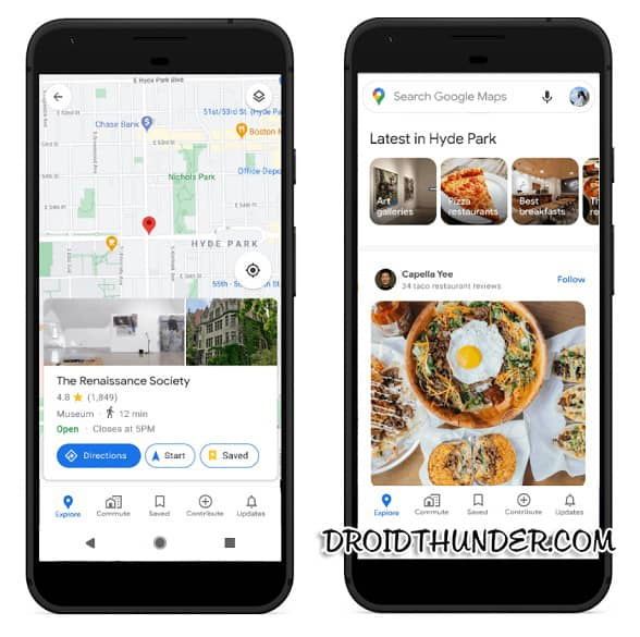 Google Maps Community Feed in Explore Tab