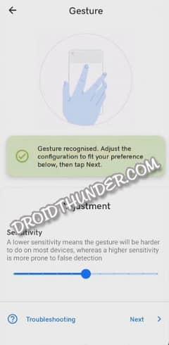 Tap Tap App Gesture Configuration Recognized