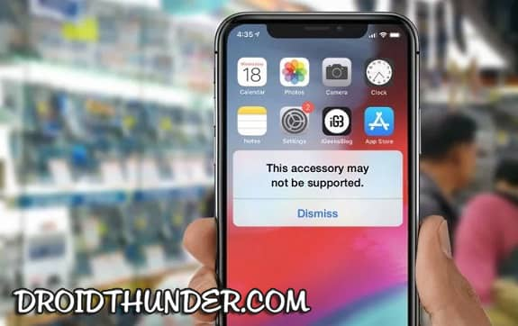 How to Fix this Accessory may not be suppported on iPhone