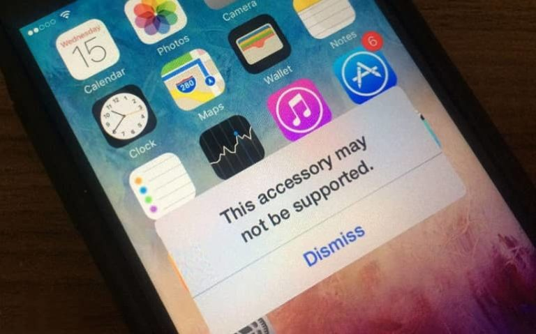 This Accessory may not be suppported iPhone