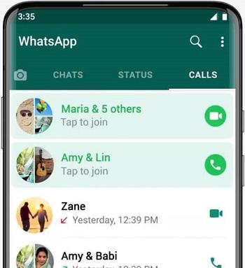 WhatsApp Calls Tab Missed Call